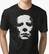 HALLOWEEN MASK Tri-blend T-Shirt