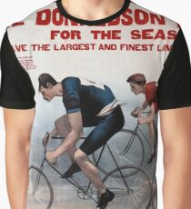 Antique American cycling litho advertisement Graphic T-Shirt