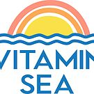 Vitamin C Sea Funny Beach Ocean Lovers Surfers Graphic Tee Beach Bums by DesIndie