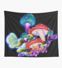 Mushrooms Wall Tapestry