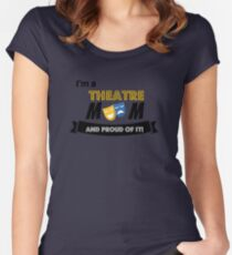 Proud parents of a theatre kid! Women's Fitted Scoop T-Shirt