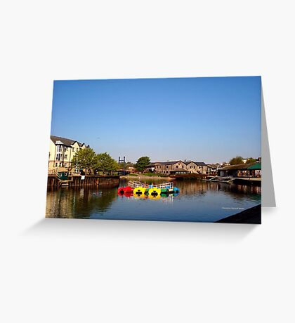 Colours at Exeter Quay Greeting Card