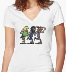 The Fabulous Furry Freak Brothers Women's Fitted V-Neck T-Shirt