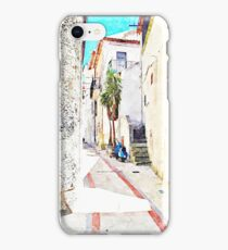 Tortora alley with scooter iPhone Case/Skin