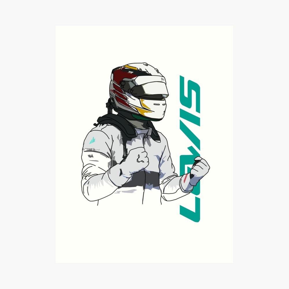 Lewis Hamilton Kunstdruck