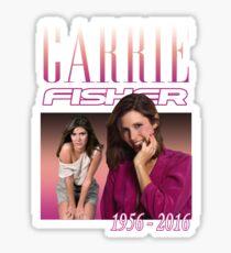 Carrie Fisher Retro Shirt Sticker