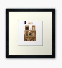 Paris Travel. Famous Place - Notre Dame Framed Print