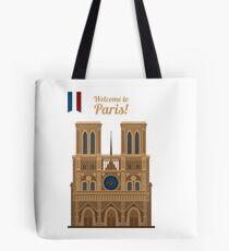 Paris Travel. Famous Place - Notre Dame Tote Bag
