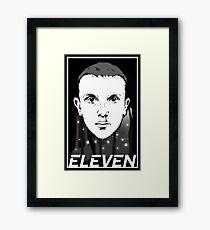 STRANGER THINGS ELEVEN TV SHOW Framed Print