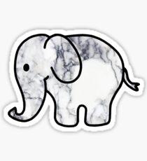 Pegatina Elefante con relleno de mármol