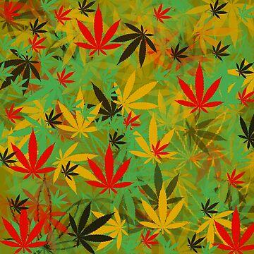 Marijuana Cannabis Weed Pot Rasta Style by MarijuanaTshirt