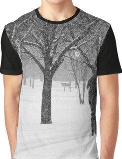 Snowy Day in New York City  Graphic T-Shirt