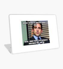 Michael Scott Würde ich lieber geliebt oder gefürchtet werden? Laptop Skin