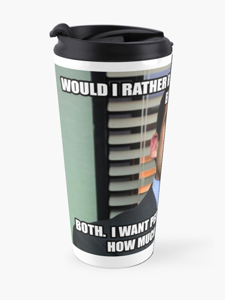 Alternate view of Michael Scott Would I Rather be Loved or Feared? Travel Mug