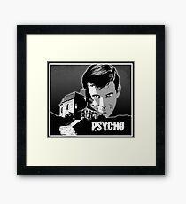 Psycho Classic movie poster art Framed Print
