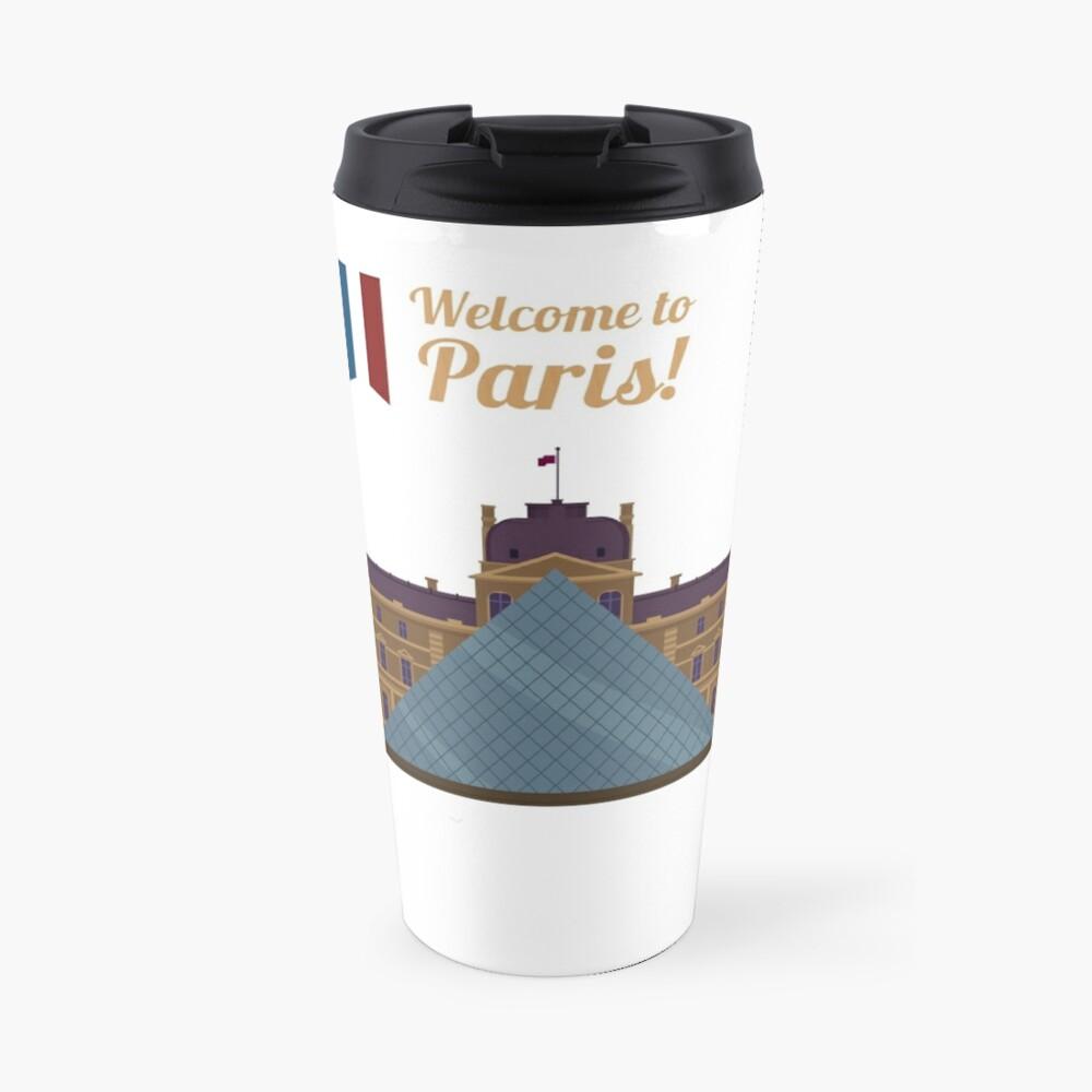 Paris Travel. Famous Place - Louvre Travel Mug