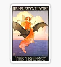 Theatre Poster for The Tempest by Charles A. Buchel  Sticker