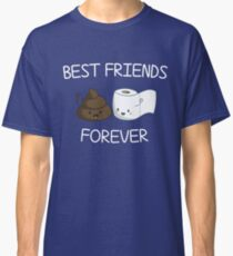 Best Friends Forever Poop Emoji T-shirt Cool Emoticon Tshirt Classic T-Shirt