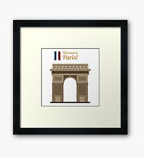 Paris Travel. Famous Place - Arc of Triomphe Framed Print