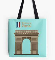 Paris Travel. Famous Place - Arc of Triomphe Tote Bag