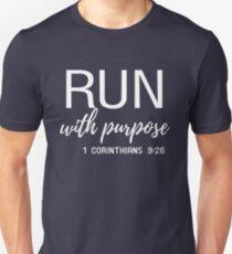 Lauf mit Zweck Unisex T-Shirt