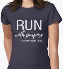 Run with purpose Women's Fitted T-Shirt