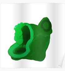 Unknown Green Object Poster
