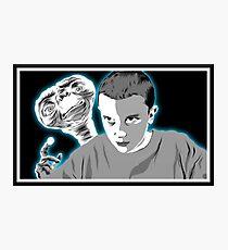 Stranger Things ET sci fi movie art Photographic Print