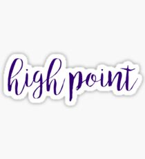 High Point / HPU Sticker