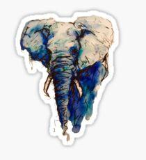 Elephant Watercolor (Blue) Sticker