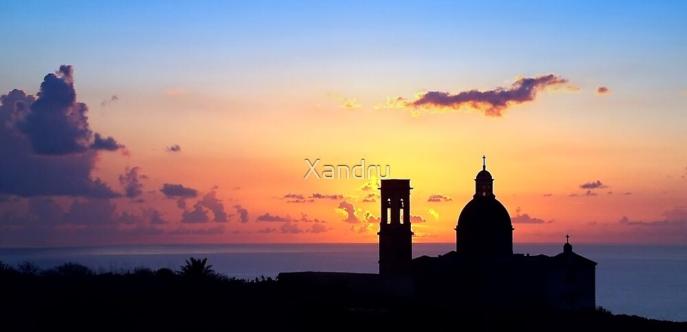 Sunset On Mtahleb by Xandru