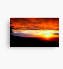 Sunset  - Glencolmcille, Ireland Canvas Print