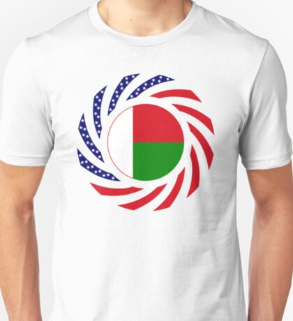 Madagascan American Multinational Patriot Flag Series T-Shirt