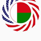 Madagascan American Multinational Patriot Flag Series by Carbon-Fibre Media