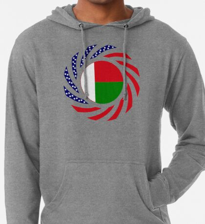 Madagascan American Multinational Patriot Flag Series Lightweight Hoodie