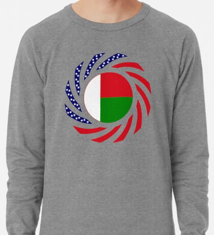 Madagascan American Multinational Patriot Flag Series Lightweight Sweatshirt