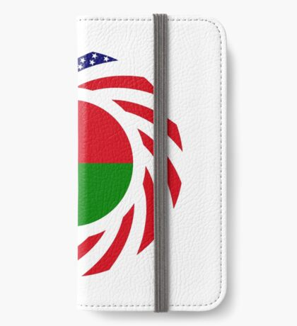 Madagascan American Multinational Patriot Flag Series iPhone Wallet