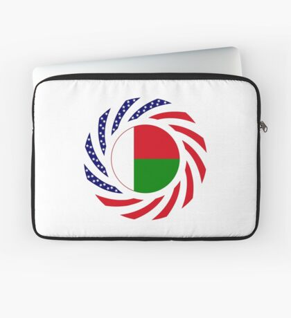 Madagascan American Multinational Patriot Flag Series Laptop Sleeve