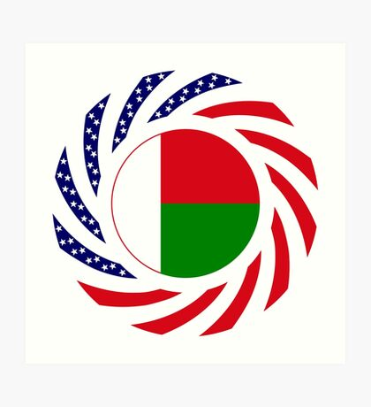 Madagascan American Multinational Patriot Flag Series Art Print
