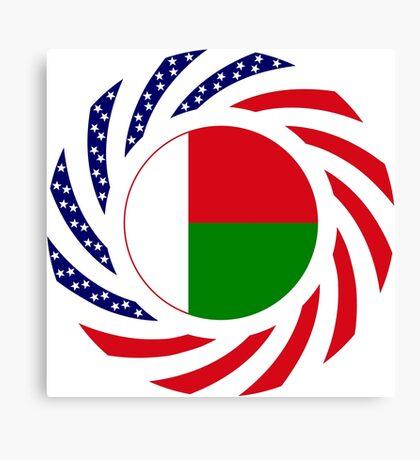 Madagascan American Multinational Patriot Flag Series Canvas Print