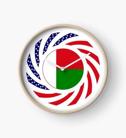 Madagascan American Multinational Patriot Flag Series Clock