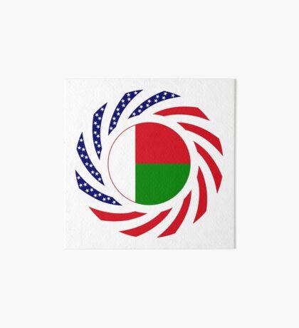 Madagascan American Multinational Patriot Flag Series Art Board Print