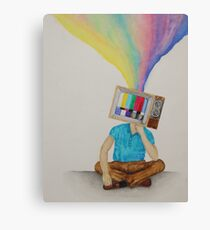 Television Head Canvas Print