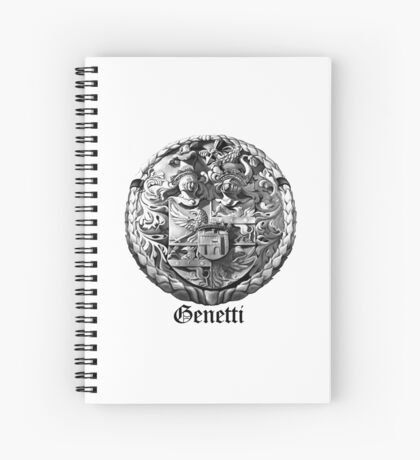 Genetti Coat-of-Arms with Surname Spiral Notebook
