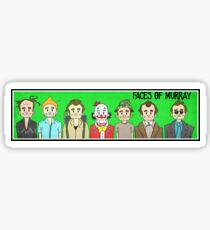Faces of BILL MURRAY. Comic book characters  Sticker