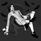 Sherlock - Vampire AU (black & white) by NadddynOpheliah