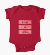 MANNY ON THE MAP [Red] (Clothes, Phone Cases & More) One Piece - Short Sleeve