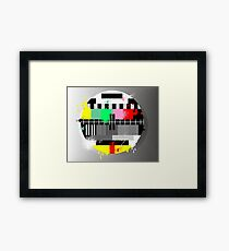 Grunge retro television test screen Framed Print