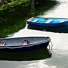 Two Blue Boats, Milk Harbour, Milk Harbour, Ireland by Shulie1