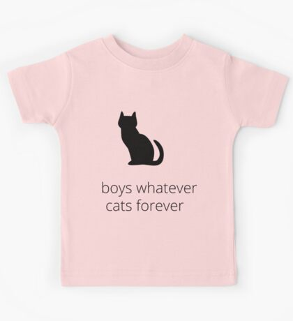 boys, whatever. cats, forever Kids Clothes